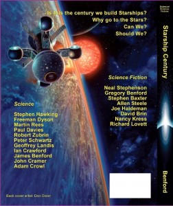 Starship Century, edited by Gregory Benford and James Benford, back cover